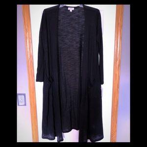 NWT LuLaRoe Black Sarah Cardigan Size Large